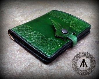 Green Leather Viking Wallet