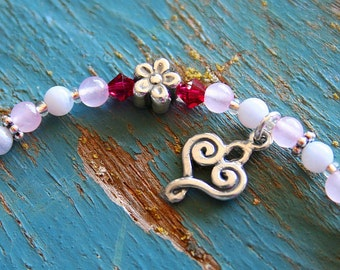 Miscarriage Bracelet,  Forget-me-not,  Gemstone, Baby Loss