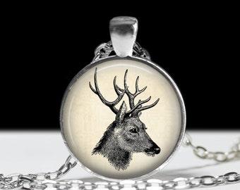 Deer Necklace Deer Jewelry Necklace Wearable Art Pendant Charm Deer Pendant Charm Deer Keychain