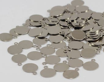 250 PCS Silver Brass, 20x19mm, Round Disc, Coins, Stamping Blanks AYK22