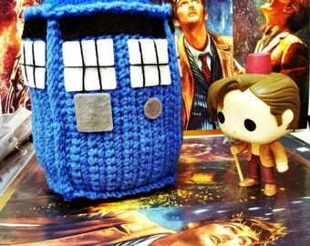 Tardis, doctor who, action figure, Time Lords, toy, amigurumi,  police box, handmade, souvenir, gift