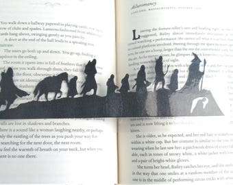 The Road Goes Ever On and On Bookmark - LOTR Inspired Lord of the Rings The Fellowship of The Ring Hand Cut Sihouette