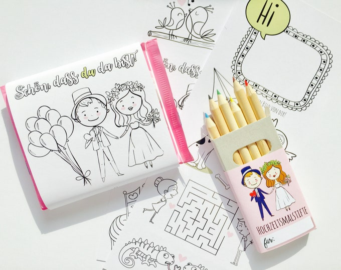 Guest Gift Wedding-coloring page Chocolate Band