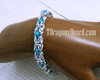 Byzantine Bracelet - Silver & Ice Blue