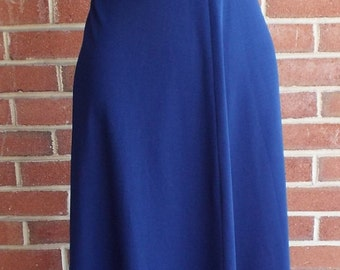 Vintage Sleeveless Blue Dress by The Cottager for the Junior Petite