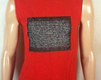 vtg Homemade funny I Am A JuggaloT-Shirt cut off sleeves ICP fan made sz S