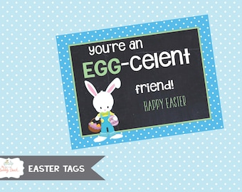 """Easter """"Egg-celent Friend Boy"""" Tag (Instant Download)"""