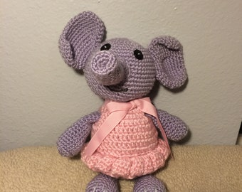 Amigurumi (Crocheted) Elephant