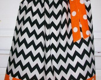 Girls Dresses, Halloween Dress, Oklahoma State, Pillowcase Dress, Chevron Dress, Black and Orange, Game Day Dress, OSU Dress, OSU Outfit