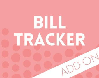 Planner Add-on : Bill Tracker Pages