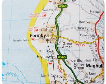 Formby Map Coasters