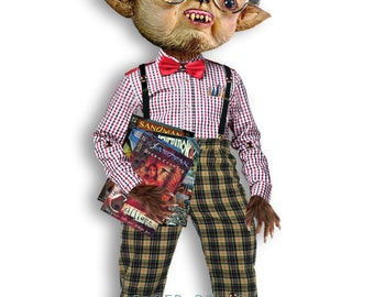 Cyprien  - articulated Paper Doll 9.1 inches -  werewolf  doll halloween prop monsters freak creatures  teen wolf art doll funny paper toy