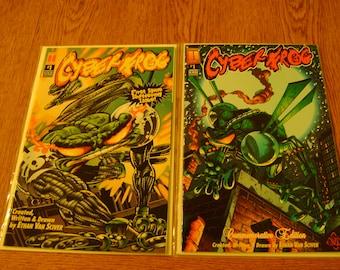 2 Cyberfrog Comic Books: Cyberfrog #1, 1996 & Cyberfrog 3rd Anniversary Special #1, 1997