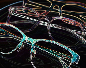 Glasses art triple