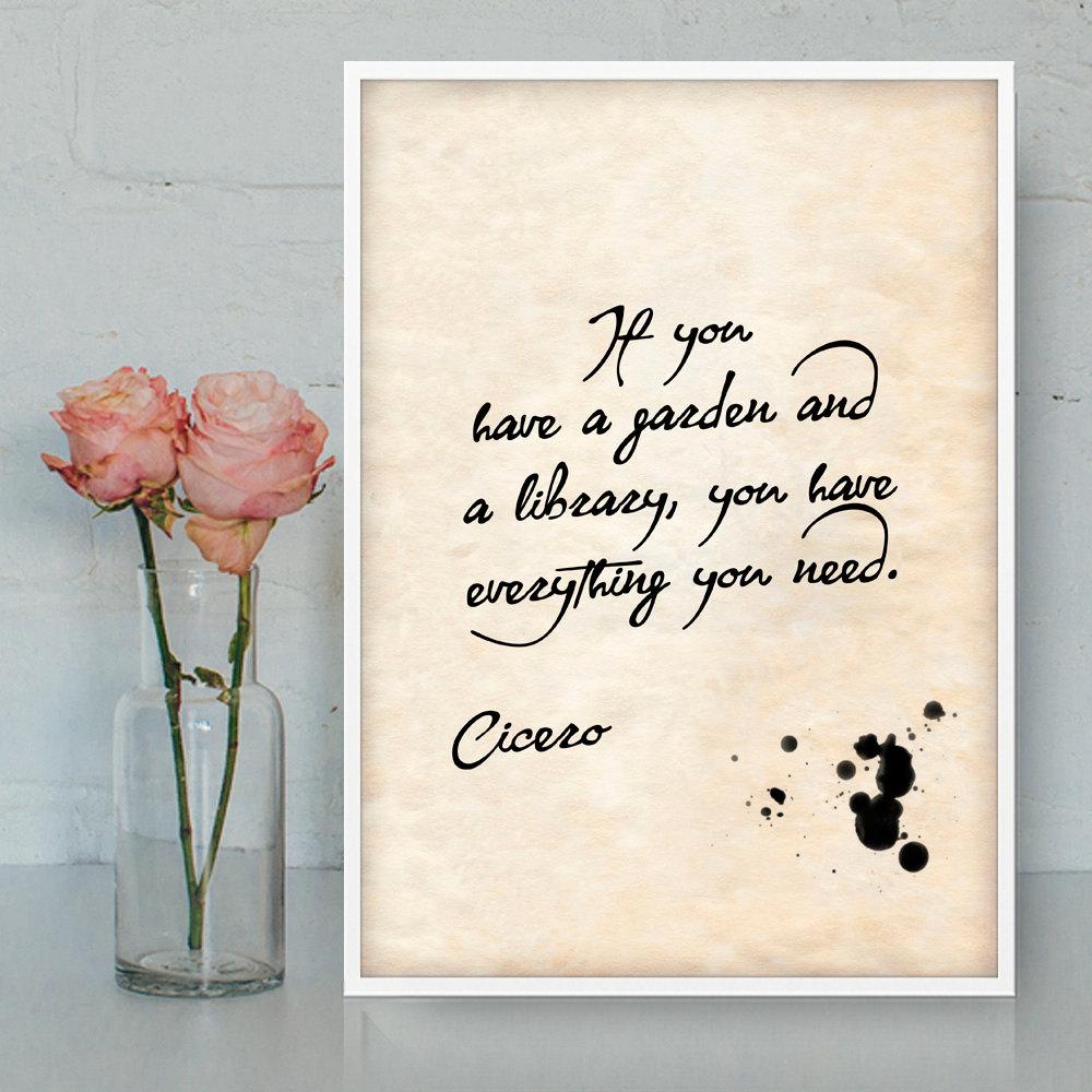 Quotes Gratitude Cicero Quotes Printable Wall Art Gratitude Quotes Latin
