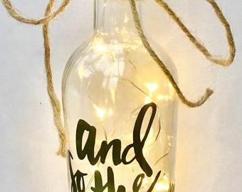 Light-up wine glass
