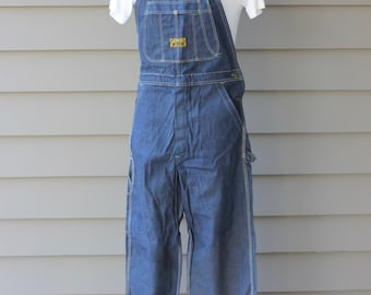 vintage 50's - 60's -Washington 'Dee Cee'- Men's denim overalls. 'New Old Stock'...Awesome workwear. Medium - 32 x 30