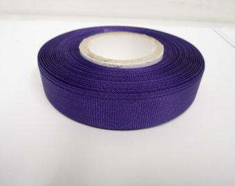 Grosgrain Ribbon 3mm 6mm 10mm 16mm 22mm 38mm Rolls, Purple, 2, 10, 20 or 50 metres, Ribbed Double sided,