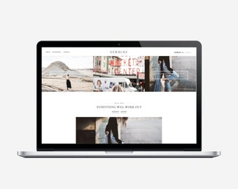 NEWBURY - Responsive Blogger Template - Sticky Navbar, Simple, Chic, Minimal, Sleek