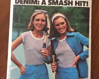 Retro Butterick 4687 Chrissie Evert Tennis Skirt, Briefs, Shorts, Shirt and T-Shirt - size 10