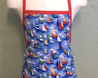 Unisex kids nautical apron
