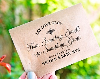 Baby Shower Seed Favor -  Let love grow - wildflower seeds - Garden Party - Plantable Guest Gift - 30 Packets or more