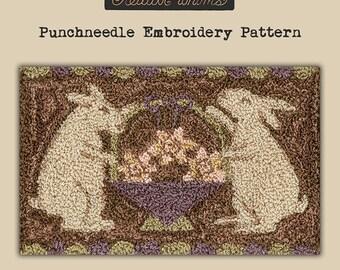 Punchneedle   Teresa Kogut   Pattern   Needlwork   DIY   Crafts   Tisket Tasket   PN124