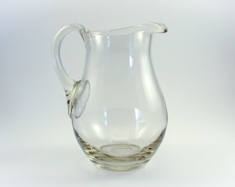 Pretty Hand-Blown Glass Pitcher