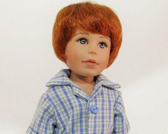10 inch Doll, Willow's Way Boy, 2 piece Royal Blue Short set