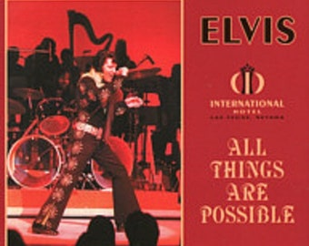 Elvis USA Import CD  'All Things Are Possible'  January 26, 1971--- Opening Night, Las Vegas