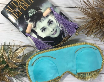 Breakfast at Tiffanys inspired deluxe sleep mask and ear plugs Includes dust bag and Free gift