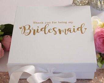 bridesmaid boxes etsy. Black Bedroom Furniture Sets. Home Design Ideas