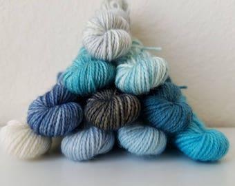 Winter Mini Skein Set (Twist Sock) - Hand Dyed Yarn - 100 Grams