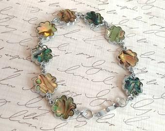 5 dollar sale...Abalone shell link bracelet