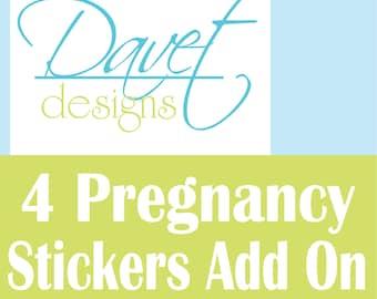 4 Pregnancy Waterproof Stickers