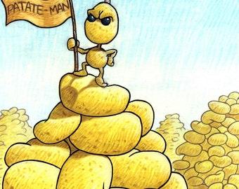 Illustration-Patateman au sommet du zénith