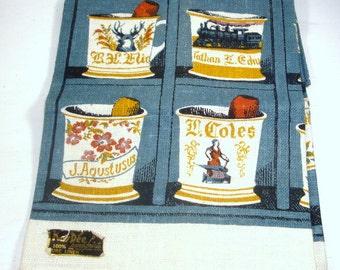100% Linen Dish Towel, Tea Towel, Kitchen Decor,  Kay Dee, Unused, NOS  (425-14)