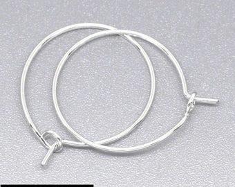 25 mm silver metal 12 hoop