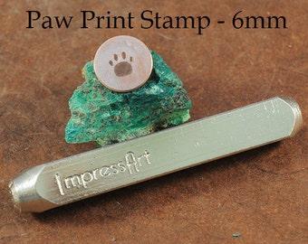 Paw Print Metal Stamp - 6mm - ImpressArt