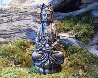 Quan Yin, Kwan Yin, Kwan Yin Statue, Kuan Yin Goddess of Compassion, Kuan Yin, Quan Yin Goddess Statue,  Statue,Goddess Energy, Cement