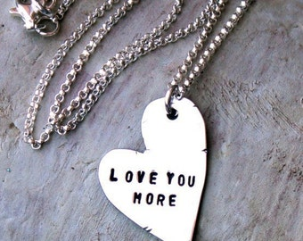 Handcrafted Love You More Necklace