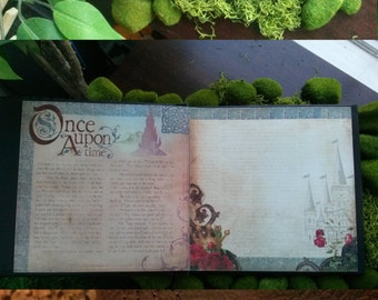 Once Upon a Time Enchanted Fairytale Wedding Guest Book/Album - Leather - Midsummer Night's Dream