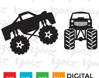 Monster Truck, Cut file, t-shirt,decal, download SVG, EPS, DXF, Cricut,Cameo,Silhouette