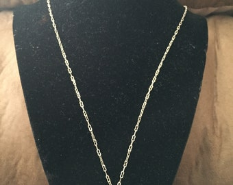 Vintage Sterling Silver AVON Design Necklace With Heart and Bird Pendant, Length 24''