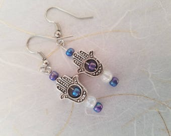 Healing Hamsa Hand Earrings