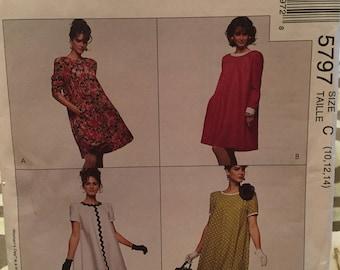 McCall's pattern 5797 misses' dress size C - uncut