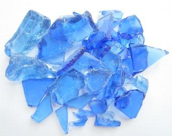 Opal Blue Glass Pieces-Glass-Terrarium Glass-Broken Glass for Crafts-Beach Home Decor-Glass Pieces Bulk-Recycled Glass Pieces-Beach Glass