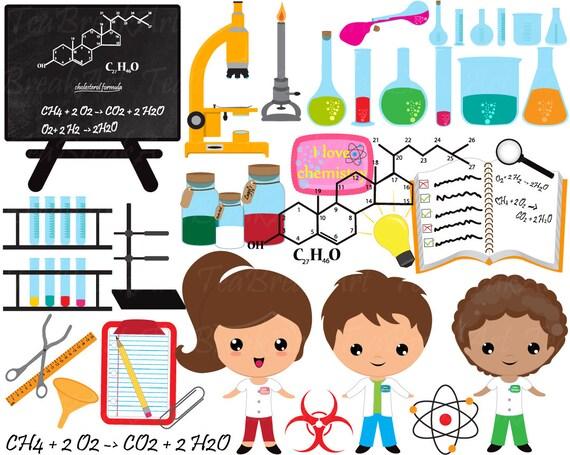 chemistry clipart digital clip art graphics personal commercial rh etsystudio com chemistry clip art images chemistry clipart images