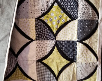 Modern Cathedral Window Baby Quilt - READY TO SHIP
