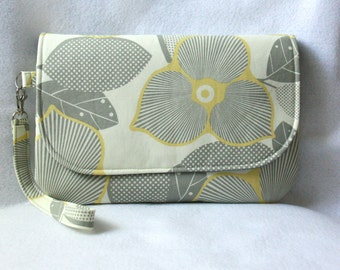 Diaper Clutch with Changing Pad - Amy Butler Optic Blossom & Martini